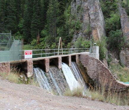 Site of a hydroelectric powerplant